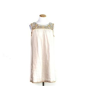 C&C California Embroidered Linen Yoke Dress NWT Sm
